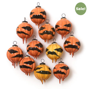 Lantern Pumpkin Bauble - Out of season sale, £72 (-40%)